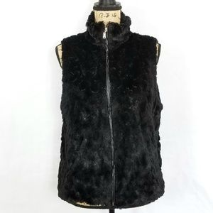Cejon Faux Fur & Sequin Vest